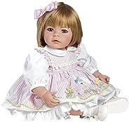 "Adora 学步儿童 Pin-A-4 Seasons 20"" 女孩加重娃娃礼品套装,适合 6 岁以上儿童,惹人喜爱乙烯基可"