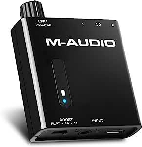 M-Audio 低音旅行者Bass Traveler 小型便携式耳机放大器 2输出 2级升压