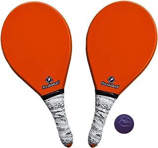 FRESKOBALL Frescobol 官方球拍套装 - 2 个纤维球拍 + 1 个官方高压橡胶球 - 美国出售