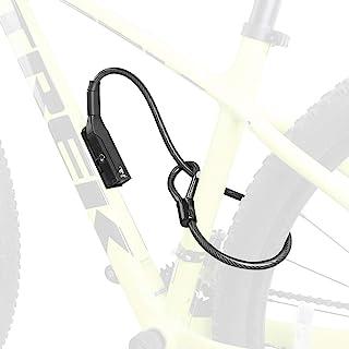 BV 自行车锁,双锁气缸支架,10 x 70 厘米电缆,防盗卷绕电缆锁组合自行车