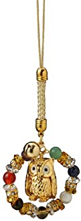 HILITCH 能量石饰品 金色 全长:约12厘米 猫头鹰幸福的环带