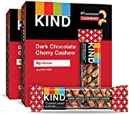 KIND Bars, Dark Chocolate Cherry Cashew + Antioxidants, Gluten Free, 1.4 Ounce Bars, 24 Count