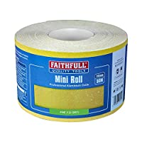 Faithfull 115 毫米黄色氧化铝纸卷范围 多色 50m length 120g FAIAR115120Y