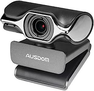 Webcam HD 1080P Ausdom AW620 网络摄像机麦克风台式计算机 PC 笔记本电脑 USB 插头 Skype 视频呼叫並行輸入品
