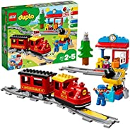 LEGO 乐高 10874 DUPLO Town 蒸汽火车 适合幼儿,灯光和声音,Push?&?Go电池供电 2-5