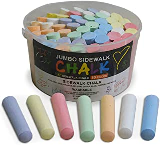 Green Piece 儿童人行道粉笔套装 – 50 件 7 色粉笔图案 – 儿童夏季玩具(1 件装)