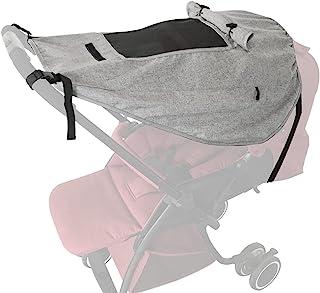 Pram 遮阳遮阳罩,婴儿遮阳婴儿车,通用防水婴儿车遮阳罩,防紫外线,带婴儿车视角(灰色)