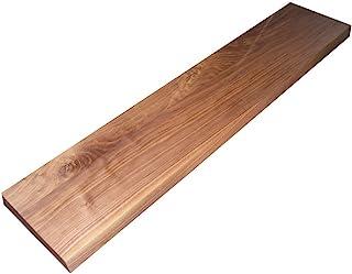 黑色胡桃木板尺寸为 3.18 x 12.70 x 91.44 cm。