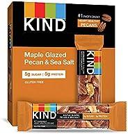 KIND 能量棒 枫糖光泽山核桃&海盐,无麸质,低糖,1.4盎司/约40克