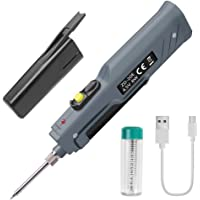 Kecheer 无线焊接铁,4.5V 8W 迷你焊接铁,带 USB 电缆和电子电烙铁 - 电池供电
