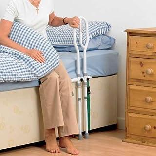 NRS Healthcare 床扶手栏,白色,中号