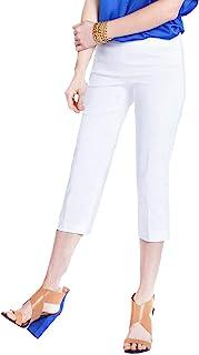 SLIM-SATION 女式宽带套穿直筒七分裤,收腹