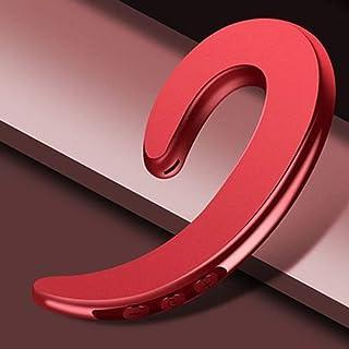 无线单耳钩,自动配对轻质耳机非耳塞耳机耳塞带麦克风(红色)