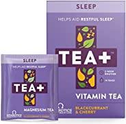 Vitabiotics TEA+ ( Tea Plus ) Sleep Tea - Helps Aid Restful Sleep | Caffeine Free Herbal Tea with Magnesium Ch