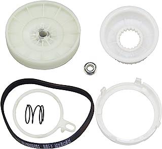 W10721967 洗衣机滑轮离合器套件和 W10006384 洗衣机传动带高级适用于 Whirlpool,Kenmore AP5951296 W10006356 W10315818 PS10057144 W10006352 W10000000...