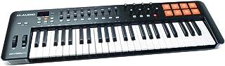 M-Audio 氧气 49 IV - 49 键 USB/MIDI 键盘控制器具有速度敏感键、8 个垫子、9 个推降器和 8 个旋钮、Plus ProTools   First、Ableton Live Lite 和 3 个高级虚拟仪器