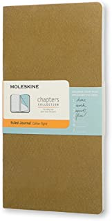 Moleskine Chapters 橄榄色横间纤细大型笔记本