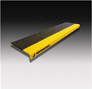 SAFEGUARD 楼梯用防滑套 6英寸2色 宽609 x 深150 x 高25mm 基材:FRP 表面:硅胶拨片&树脂 黑色/黄色 附带铁板安装螺丝