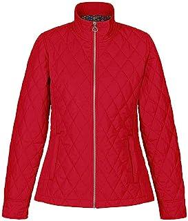 Regatta 女式 Charna 防水超细纤维府绸面料 Thermoguard 隔热背部开衩带铆钉紧固夹克夹克