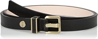 Calvin Klein 女士 20mm 半光腰带带金属环和皮革镶嵌