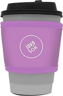 Java Sok 可重复使用热咖啡杯隔热套,用于星巴克咖啡,麦当牛,邓肯甜圈等热咖啡和茶(丁香)