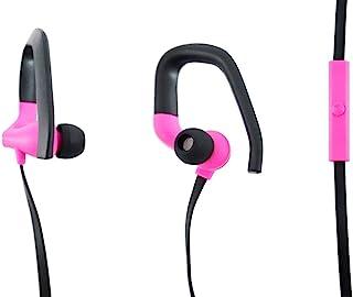 Aiino aihearhook-pk 人体工程学耳机头带麦克风,适用于手机、iPhone和智能手机,粉色