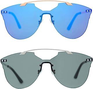 男女款太阳镜方形 Blaze 双鼻梁 UV400 防护轻质