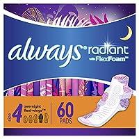 Always Radiant Heavy 女性護翼衛生巾,有香味 Overnight - Pack of 3 66