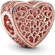 Pandora 潘多拉珠宝镶嵌浪漫潘多拉玫瑰吊坠