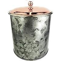 Galrose ICE BUCKET WINE CHAMPAGNE BOTTLE COOLER - 双层高强度镀锌铁/不锈钢内衬饮料冷却器带玫瑰金表面独特工业别致外观佳品