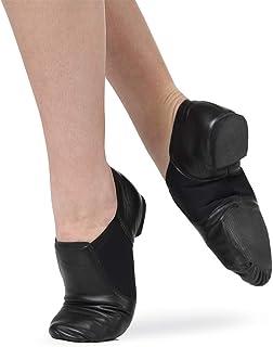 皮革一脚蹬分离式鞋底爵士鞋,带氯丁橡胶衬垫 | 舞蹈基础款 | 女式舞鞋