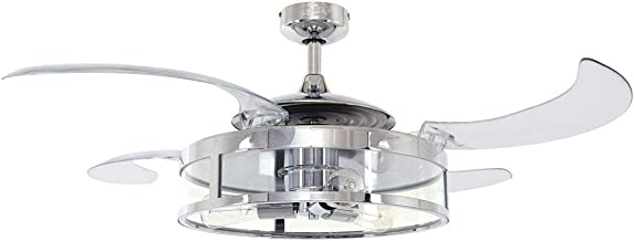 Fanaway 新款經典吊扇和燈,銀色,E27,60 瓦 鍍鉻色 212926