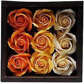 九州花服务 花朵形状的入浴剂 玫瑰花香 9个 玫瑰O 753220