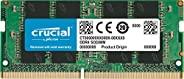 Crucial Single DDR4 (PC4-21300) SR x8 SODIMM 260-Pin 内存条CT32G4SFD8266 2666 MT/s 32GB