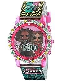 L.O.L. 驚喜女孩石英手表橡膠表帶,多色,13(型號:LOL4307OMGAZ)