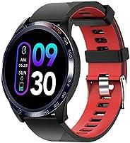 novasmart - runR IV 智能手表,健身追踪器,活动追踪器,智能带彩色显示屏,心率和*测量,*监测仪,卡路里计,计步器 - 黑色/红色