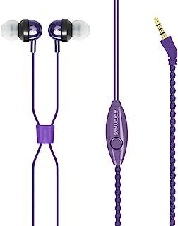 Promate 腕带 便携型 立体声 耳机 1.2m 织物 完成 免提 内置麦克风 紫色 Retro PURPLE