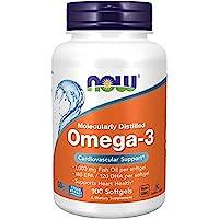 NOW Foods - Omega-3 分子被蒸馏的鱼油 - 100软胶囊