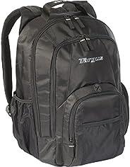 Targus Groove 专业商务笔记本电脑背包,带衬垫隔层,耐用 PVC 材料,前后袋口袋,保护套适合 16 英寸笔记本电脑,黑色 (CVR600)