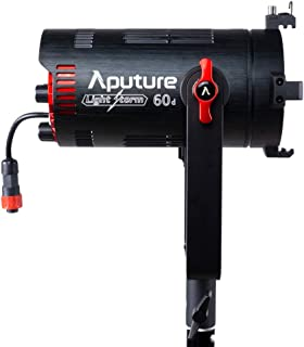 Aputure LS 60D Light Storm 60W 日光聚焦 LED 视频灯,CRI 96+ TLCI 98+ 50000lux @1m,应用程序控制,IP54 级防水,支持 NP-F970,W/谷仓门