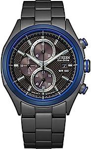 Citizen 西铁城 男式石英不锈钢表带,黑色,22 休闲手表(型号:CA0438-52E)