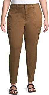 Terra & Sky Urban Camel 加大码紧身工装裤