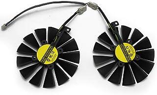 新款 95MM PLD10010S12H 散热风扇适用于 ASUS 华硕 ROG Strix Dual RX 470 570 适用于 AMD RX470 RX570 游戏显卡冷却风扇(2PCS)