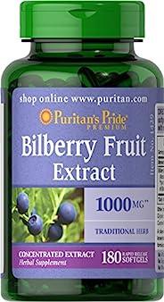 Puritans Pride 普丽普莱 越橘提取片软胶囊,含有抗氧化剂特性 ,1000 毫克,180 粒