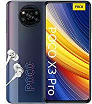 POCO X3 Pro - 智能手机 8 + 256 GB,6.6 英寸 120Hz FHD+ DotDisplay,Snapdragon 860,48MP 四摄像头,5160mAh,Phantom Black (英版版