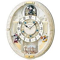 SEIKO 精工 时钟 挂钟 米老鼠 电波 模拟 自动装置 12曲 旋律 旋转装饰 米奇&朋友们 Disney Time 白 大理石 外观 FW580W SEIKO