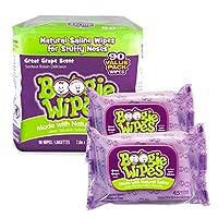 BOOGIE WIPES 布吉 葡萄味溫和生理鹽水濕巾|手口鼻涕巾-90張(進口)
