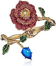 Betsey Johnson 女士粉色和金色玫瑰铰链手镯手链