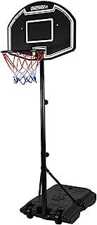 ONETWOFIT 青少年篮球系统,可调节高度 44.5 英寸 - 81.5 英寸(1.1 - 2.0 米)便携式冲击篮板户外篮球篮筐带 26.5 英寸(约 67.8 厘米)PE 篮板,适合青少年/青少年 OT132