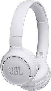 JBL Tune 500BT 强劲低音无线包耳式耳机,带有麦克风(白色)